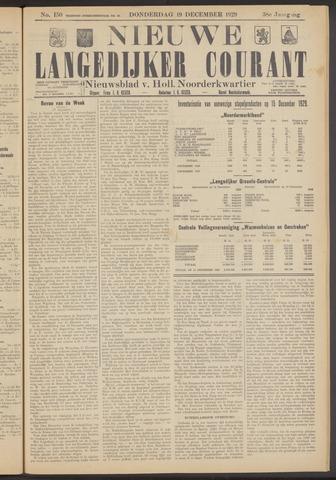 Nieuwe Langedijker Courant 1929-12-19