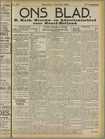 Ons Blad : katholiek nieuwsblad voor N-H 1910-10-08