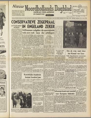 Nieuw Noordhollandsch Dagblad : voor Alkmaar en omgeving 1951-10-26