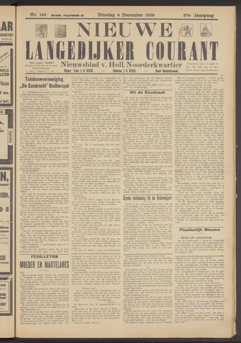 Nieuwe Langedijker Courant 1928-12-04