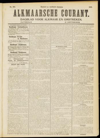 Alkmaarsche Courant 1912-09-21