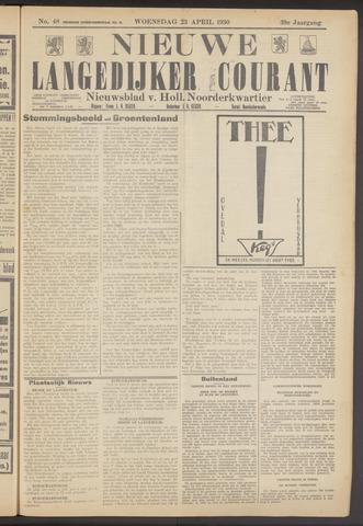 Nieuwe Langedijker Courant 1930-04-23