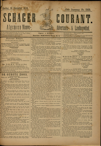 Schager Courant 1889-12-15