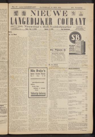Nieuwe Langedijker Courant 1931-05-16