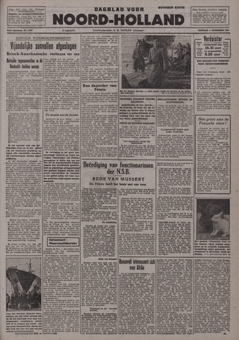 Dagblad Noord-Holland, Schager editie 1942-12-01
