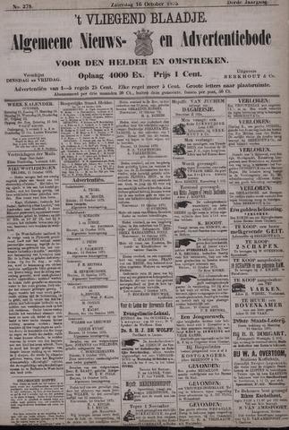 Vliegend blaadje : nieuws- en advertentiebode voor Den Helder 1875-10-16
