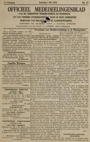 Mededeelingenblad Wieringermeer en Wieringen 1943-05-01