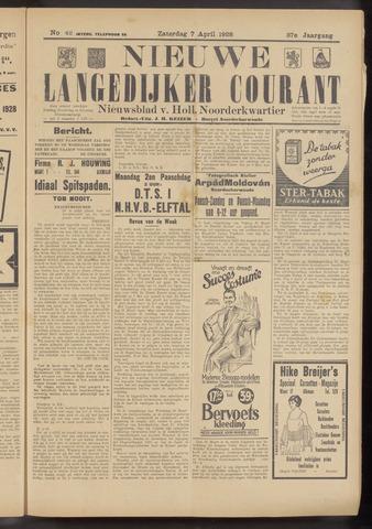 Nieuwe Langedijker Courant 1928-04-07
