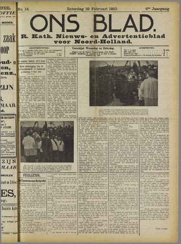 Ons Blad : katholiek nieuwsblad voor N-H 1910-02-19
