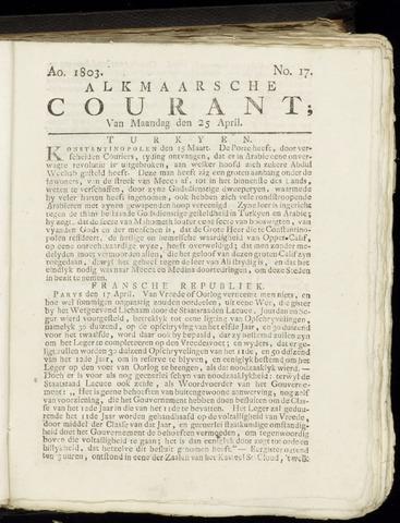 Alkmaarsche Courant 1803-04-25