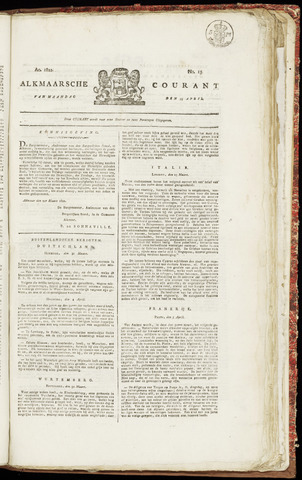 Alkmaarsche Courant 1822-04-15