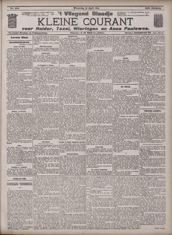 Vliegend blaadje : nieuws- en advertentiebode voor Den Helder 1913-04-16
