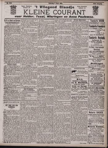 Vliegend blaadje : nieuws- en advertentiebode voor Den Helder 1903-04-11