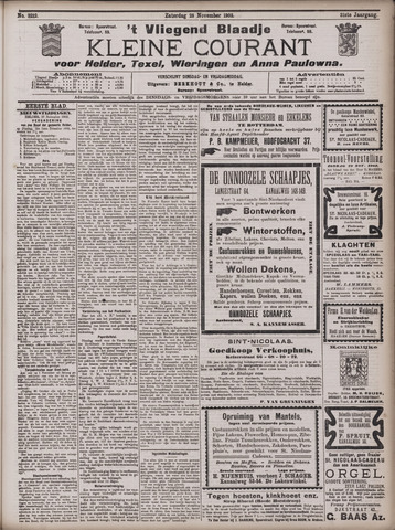 Vliegend blaadje : nieuws- en advertentiebode voor Den Helder 1903-11-28