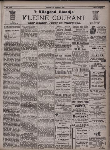 Vliegend blaadje : nieuws- en advertentiebode voor Den Helder 1900-11-10