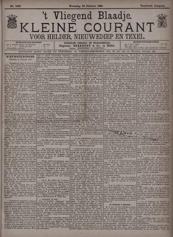 Vliegend blaadje : nieuws- en advertentiebode voor Den Helder 1886-02-24