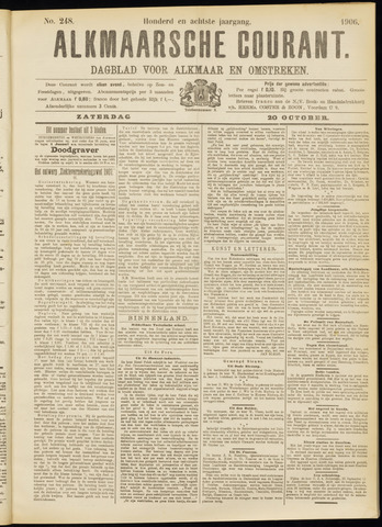 Alkmaarsche Courant 1906-10-20
