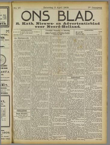 Ons Blad : katholiek nieuwsblad voor N-H 1909-04-03