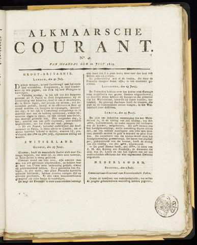 Alkmaarsche Courant 1815-07-10