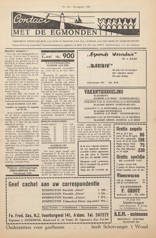 Contact met de Egmonden 1964-08-20