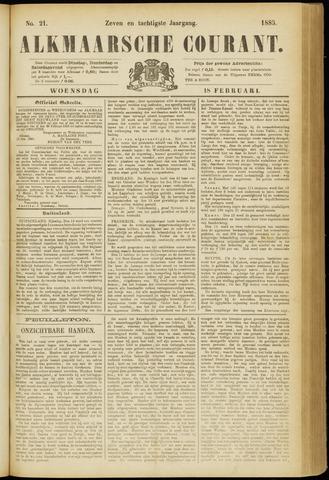 Alkmaarsche Courant 1885-02-18
