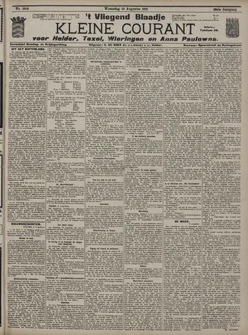 Vliegend blaadje : nieuws- en advertentiebode voor Den Helder 1910-08-10