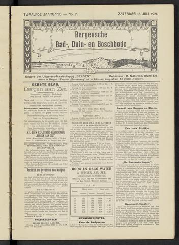 Bergensche bad-, duin- en boschbode 1921-07-16