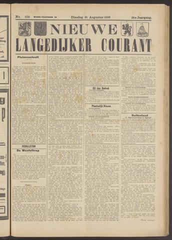 Nieuwe Langedijker Courant 1926-08-31