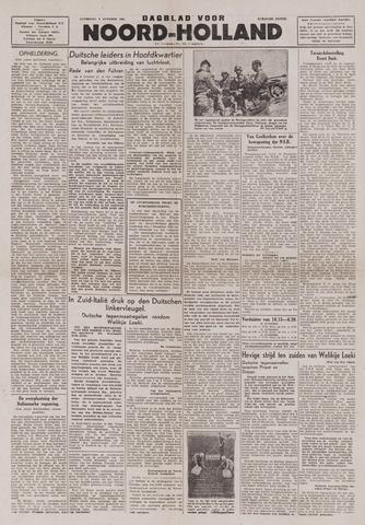 Dagblad Noord-Holland, Schager editie 1943-10-09