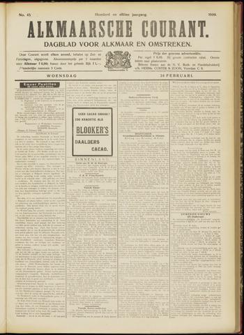 Alkmaarsche Courant 1909-02-24