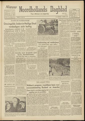 Nieuw Noordhollandsch Dagblad : voor Alkmaar en omgeving 1948-05-18