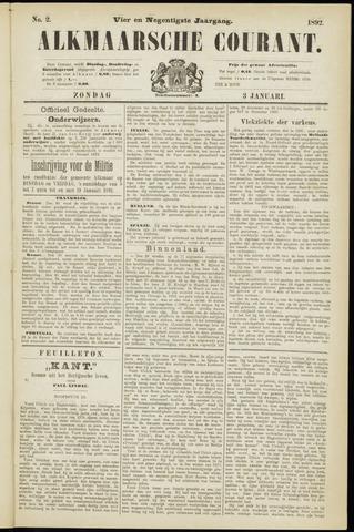 Alkmaarsche Courant 1892-01-03