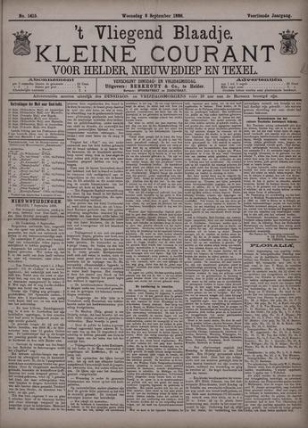 Vliegend blaadje : nieuws- en advertentiebode voor Den Helder 1886-09-08