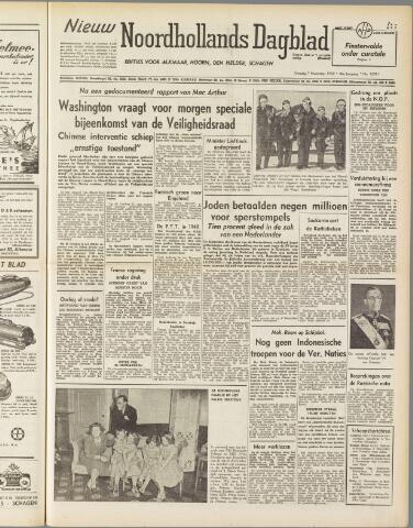 Nieuw Noordhollandsch Dagblad : voor Alkmaar en omgeving 1950-11-07