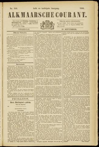 Alkmaarsche Courant 1886-09-10