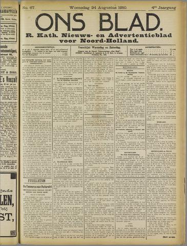 Ons Blad : katholiek nieuwsblad voor N-H 1910-08-24