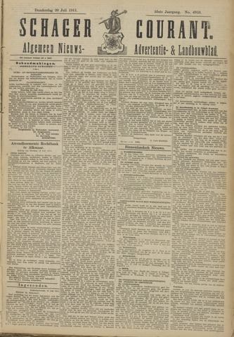 Schager Courant 1911-07-20