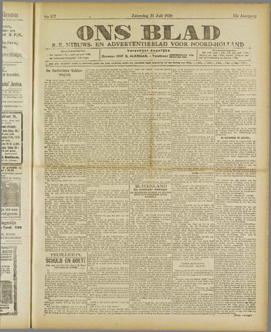 Ons Blad : katholiek nieuwsblad voor N-H 1920-07-31