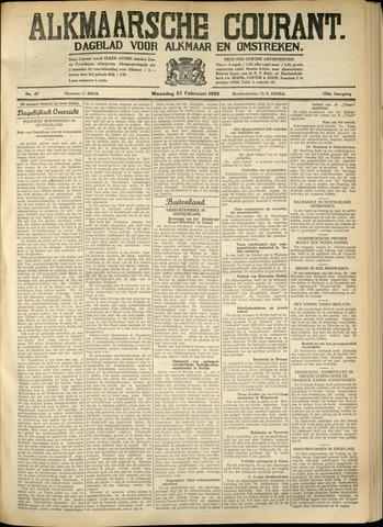 Alkmaarsche Courant 1933-02-27