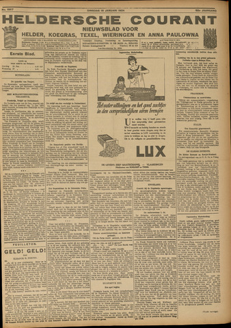 Heldersche Courant 1924-01-15