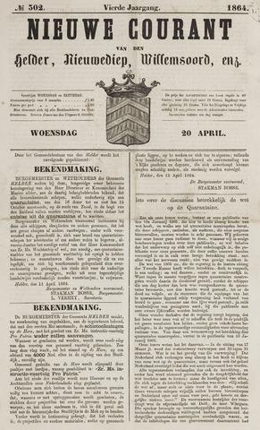 Nieuwe Courant van Den Helder 1864-04-20