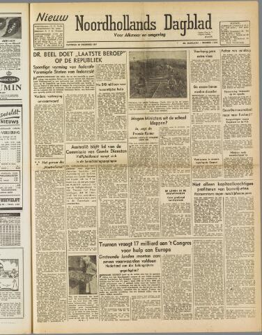 Nieuw Noordhollandsch Dagblad : voor Alkmaar en omgeving 1947-12-20