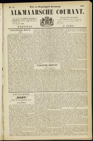Alkmaarsche Courant 1892-04-27
