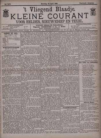 Vliegend blaadje : nieuws- en advertentiebode voor Den Helder 1886-04-24