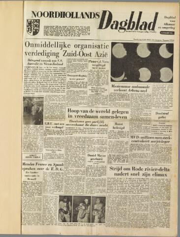 Noordhollands Dagblad : dagblad voor Alkmaar en omgeving 1954-07-01
