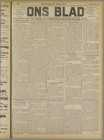 Ons Blad : katholiek nieuwsblad voor N-H 1917-06-30