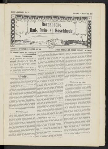 Bergensche bad-, duin- en boschbode 1912-08-23