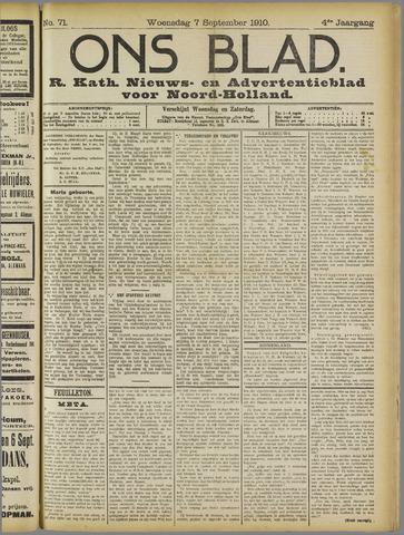Ons Blad : katholiek nieuwsblad voor N-H 1910-09-07