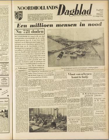 Noordhollands Dagblad : dagblad voor Alkmaar en omgeving 1953-02-03