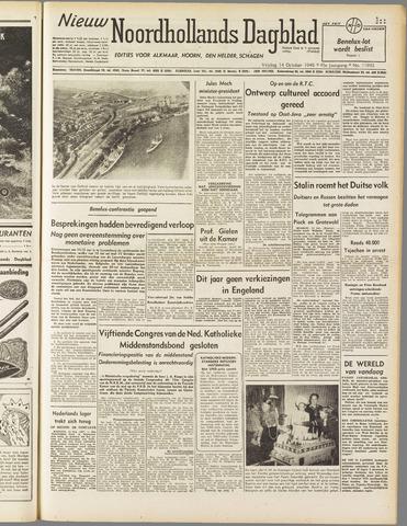 Nieuw Noordhollandsch Dagblad : voor Alkmaar en omgeving 1949-10-14